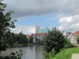 St Peterskirche across the river in Gorlitz